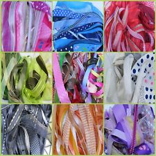 50 x 1 Metre Lengths of Assorted Colours & Widths Mixed Ribbon Bundle