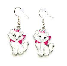 Disney Inspired Aristocats Marie Cat Character Dangle Hook Earrings GIFT