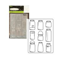 Mason Jars embossing Folder Darice embossing folders 30023106