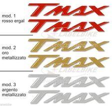 ADESIVI/STICKERS in RESINA 3D SCRITTA TMAX ergal per SCOOTER x MOTO YAMAHA T MAX