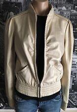 MISS SIXTY Fashion Women's MOTORCYCLE MOTO JACKET Suede Golden Long Sleeve sz S