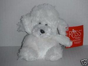 RUSS BERRIE Puppy (White Colour) Soft Plush Toys 12cm Tall