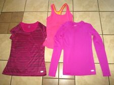 Lot of 3 CHAMPION Magenta Pink RACERBACK LS COMPRESSION & DUO DRY SHIRTS TOPS XS