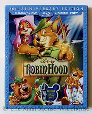 Disney Animated Classic Robin Hood on Blu-ray DVD & Digital Copy No Slipcover