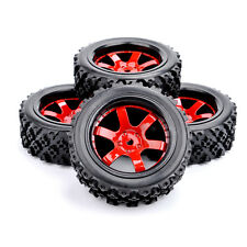 4Pcs Set RC Rubber Rally Tires Wheel Rim D6NKR For HPI HSP 1:10 Off Road Car