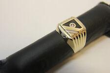 Gold Ring Goldring 585 14k Gelbgold Herrenring Gr. 61 Männer Siegelring SCHMUCK