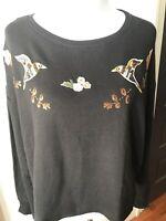 NWT Disney Collection Lauren Conrad Women's Black XXL Snow White Beaded Shirt
