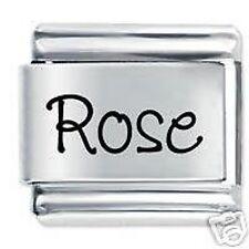 ROSA Nome 9mm Daisy Charm da JSC Fits Classic Size Italian Braccialetto Ciondoli
