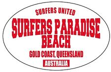 SURFERS PARADISE OVAL STICKER surf  hotrod 100mm wide