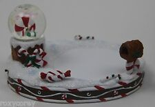 Yankee Candle Snow Globe Collection Candy Cane Jar Candle Holder Lights Up NIB