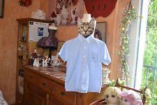 chemise tartine et chocolat rayee blanc bleu ciel 6 ans garçon le poisson