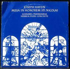 Haydn Missa 4 in honorem Sti Nicolai Schnabel Herbeck Fridolin Roth LP NM, CV EX