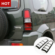 Black ABS Rear Tail Light Frame Trim Cover 2pcs For Suzuki Jimny 2007-2015