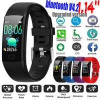 1.14'' Big Screen Smart Watch Band Bracelet Wristband Heart Rate Monitor Tracker
