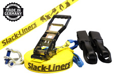 6 pezzi Slackline-SET - 50mm-larga 15m lungo giallo-Made in Germany