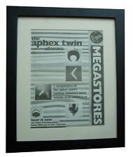 APHEX TWIN+Classics+POSTER+AD+RARE+ORIGINAL 1995+QUALITY FRAMED+FAST GLOBAL SHIP