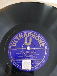 """Grégor et ses Grégoriens """"my favorite band"""" """"music hath charms"""" - 78t Jazz 78rpm"""