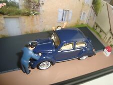DIORAMA IXO 1/43 NATIONAL 5 THE ROAD WHITE STOP 5 PANHARD DYNA X THE LAUNDRY