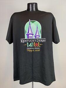 Men's 2015 141st Kentucky Derby Black Churchill Downs Cotton Graphic Shirt Large