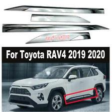 4pcs Car Side Door Body Molding ABS Chrome Cover Trim for Toyota RAV4 2019 2020