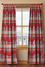 Red Branch Tab Top Drapes -Western - Southwestern - Sunset Colors - Free Ship