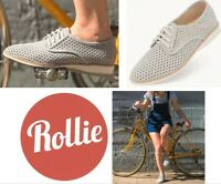 Rollie Nation Shoes comfort leather Derby casuals Rollie Derby Punch Grey