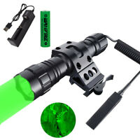 LED Light Flashlight Weapon Gun Torch QD Offset Mount Remove Switch Hunting Lamp