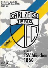 II. bl 91/92 FC Carl Zeiss Jena-tsv 1860 munich, 24.08.1991