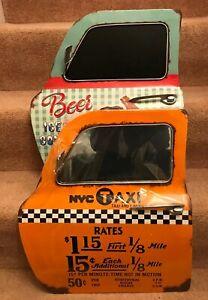 Retro Americana Taxi door/ chalkboard, Distressed Metal,Stunning product