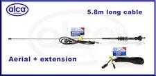 Coche Antena Aérea Radio FM/AM Techo Mástil De Fender 80 cm + 4.5 M Cable de extensión
