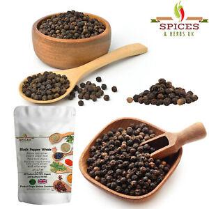 100% Organic Black Pepper Corns Whole Dried Pure Fresh Herbal Spices A-Grade P&P