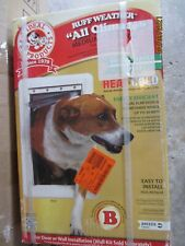 """New listing Ideal Pet Medium Dogs Ruff-Weather All Climate Dual Flap Pet Door 7.25"""" x 13"""""""