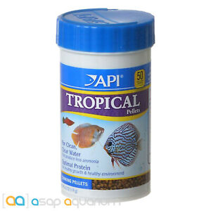 API Tropical Pellets Fish Food 4.2oz (119g) Freshwater Tropical Fish Food Pellet