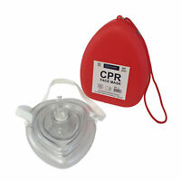 QUALICARE CPR FACE MASK RESUSCITATION FIRST AID BREATHE REUSABLE AIR MOUTH GUARD