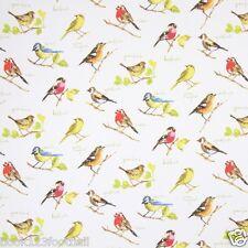 PRESTIGIOUS TEXTILES 100% COTTON CURTAIN FABRIC/CRAFT  GARDEN BIRDS Watercolour