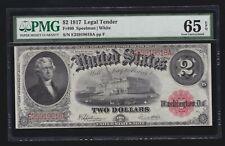 US 1917 $2 Jefferson Legal Tender FR 60 PMG 65 EPQ GEM CU (618)