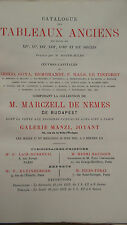 Collection Marczell de Nemes de Budapest. Catalogue des tableaux anciens