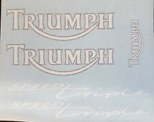 TRIUMPH SPEED TRIPLE EARLY MODEL FULL DECAL KIT