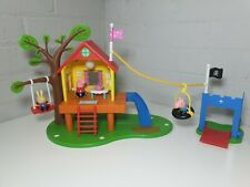 Peppa Pig Tree House Deluxe Georges Fort Lights & Sounds With Figures Rare