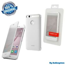 "CUSTODIA COVER SMART VIEW CASE ORIGINALE HUAWEI PER NOVA 5"" BIANCO CAN-L01 WHITE"
