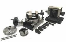 Hv 4rotary Table Amp M6 Clamp Kit Amp Tailstock With 50 Mm 4 Jaw Self Chuck