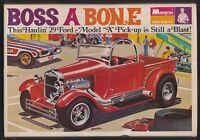 Vintage 1970 Boss A Bone 29 Ford Model A Pickup by Monogram Models 1/24 Car 6755