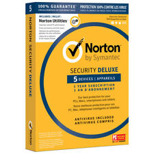 Norton Security Deluxe 5 Devices 1-Year Subscription + Utilities Email Delivery