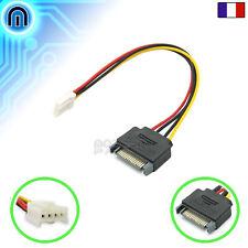 Câble adaptateur d'alimentation Sata Male vers Floppy 4pin FDD Lecteur Disquette