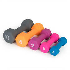 Cap Neoprene Hex Dumbbells Pairs Singles Rubber Weights 2 3 5 8 10 lbs Pounds