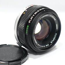 Olympus OM 50mm f/1.8 Zuiko MC M/I Japan lens, Exc, fits OM camera mount