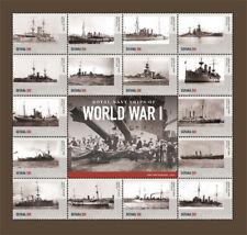 Guyana- 2015 WORLD WAR I: ROYAL NAVY SHIPS SHEETLET I SHEET OF 16 STAMPS - MNH