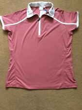 Ping Ladies Short Sleeve Polo Shirt with Zip-Neck in Dusty Rose, UK18, £60