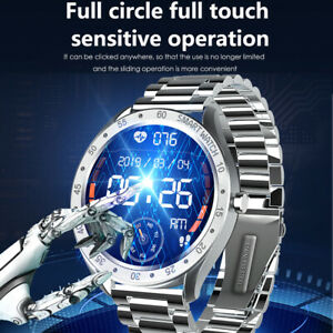 Smart Watch Bluetooth Call Watch Stainless Steel Band Sleep Heart Rate Monitor