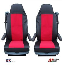VOLVO FL FE FM 16 FH16 12 FH12 QUALITY RED-BLACK TAILORED SEAT COVERS NEW